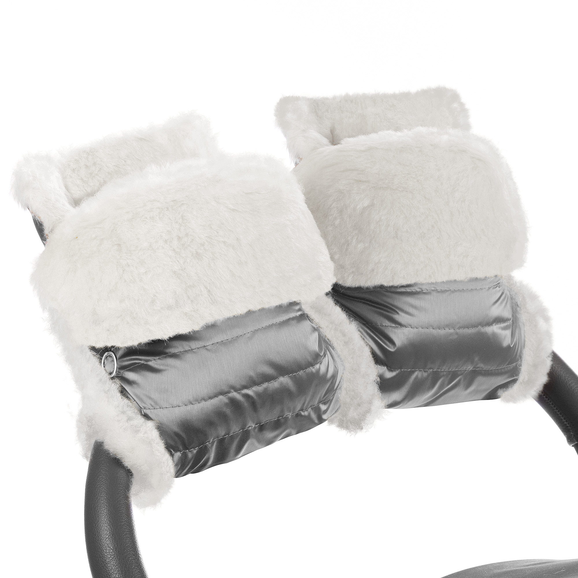 Муфта-рукавички для коляски Esspero Christer Graphite Натуральная шерсть фото