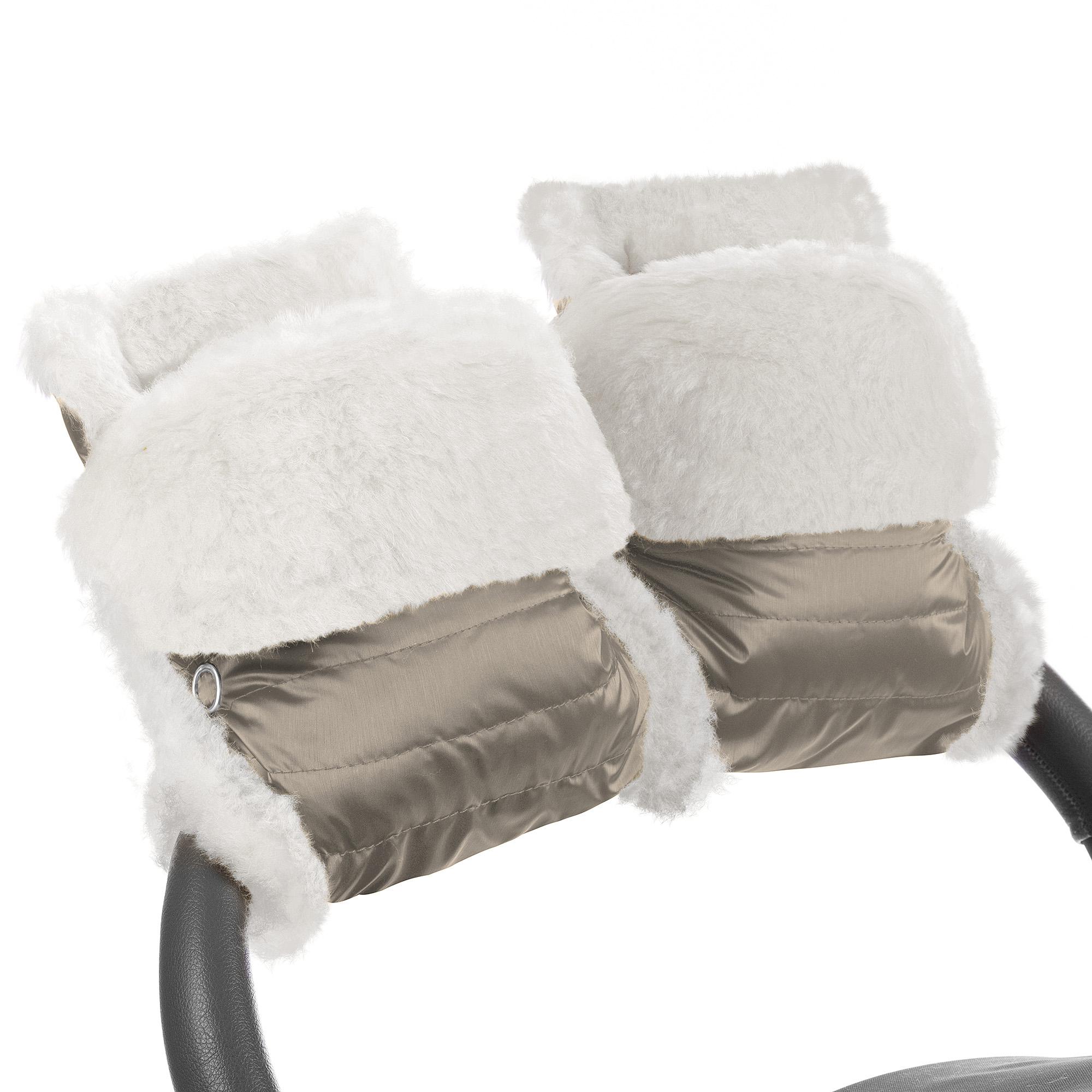 Муфта-рукавички для коляски Esspero Christer Almond Натуральная шерсть фото