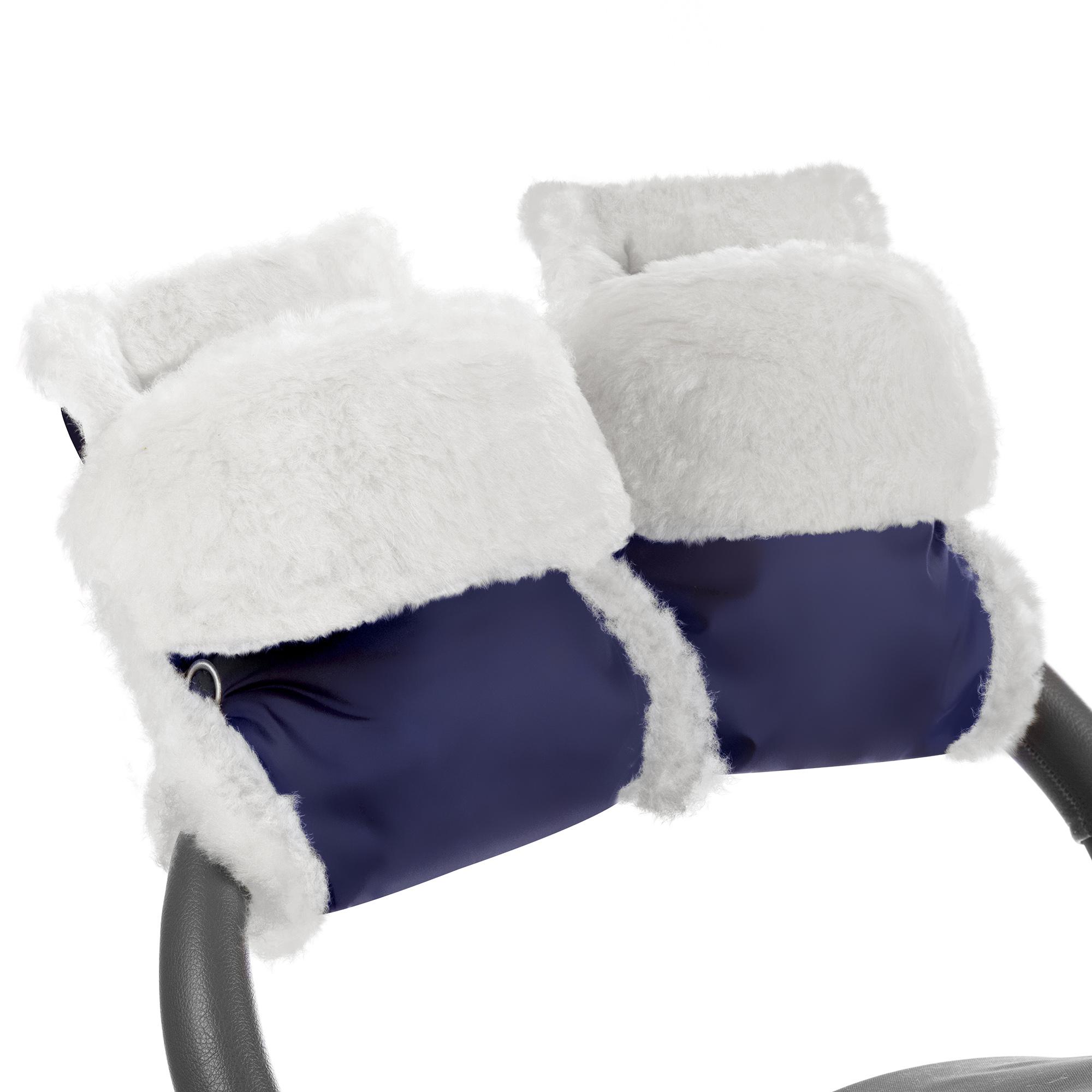 Муфта-рукавички для коляски Esspero Christer Navy Натуральная шерсть фото