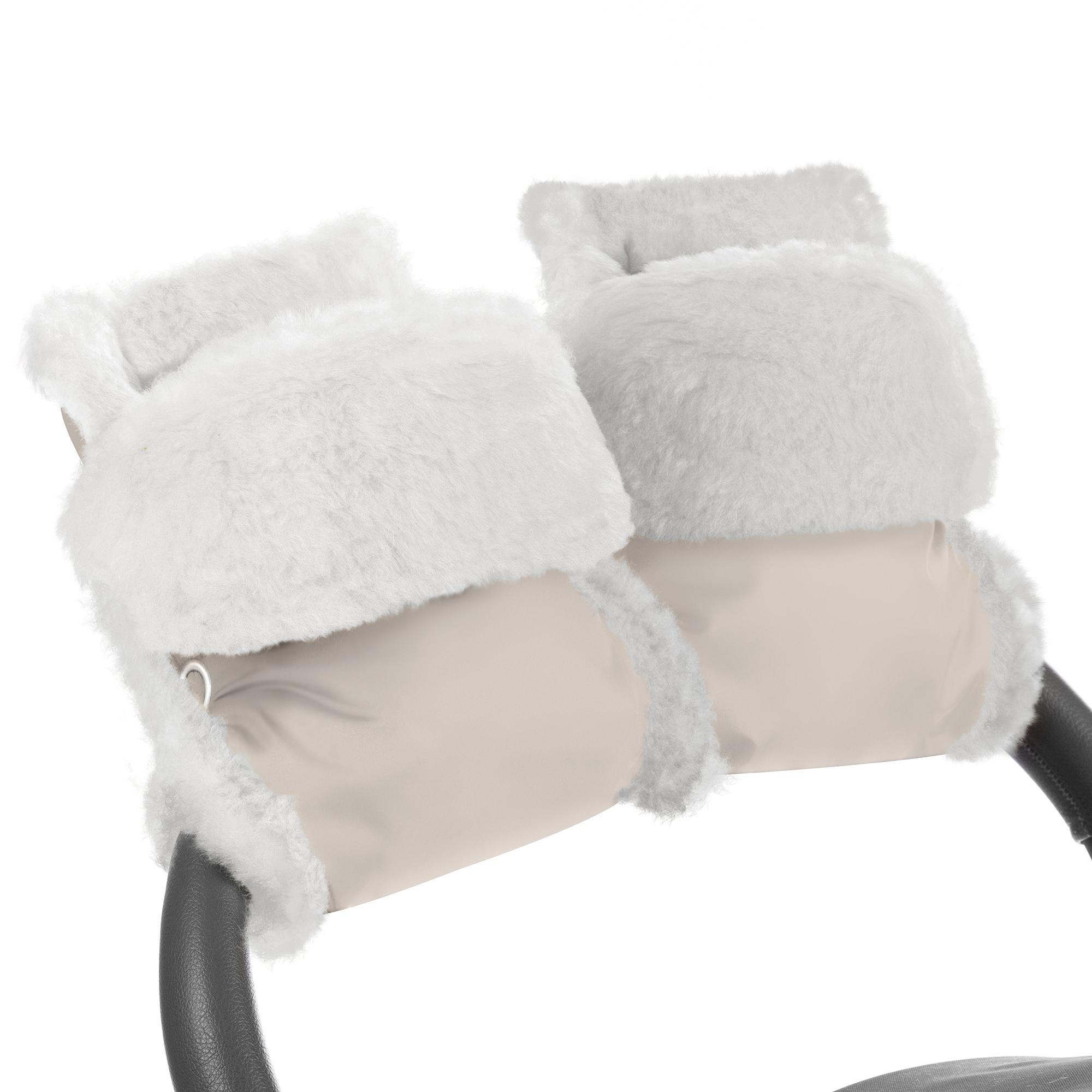 Купить Муфта-рукавички для коляски Esspero Christer Beige Натуральная шерсть, Муфты на коляску
