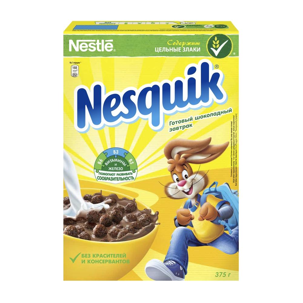 Готовый завтрак Nesquik шоколадные шарики 375 г фото