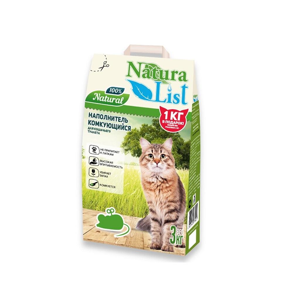 Комкующийся наполнитель для кошек Naturalist бентонитовый, 3 кг фото