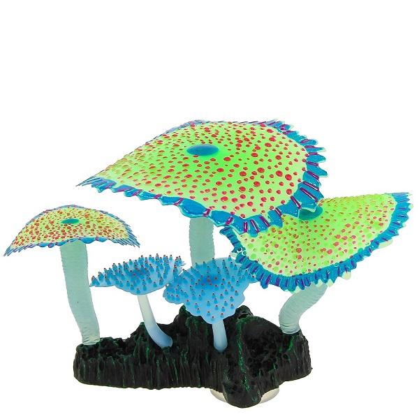 Искусственный коралл Gloxy Кораллы зонтичные, флуоресцентный, зеленый,