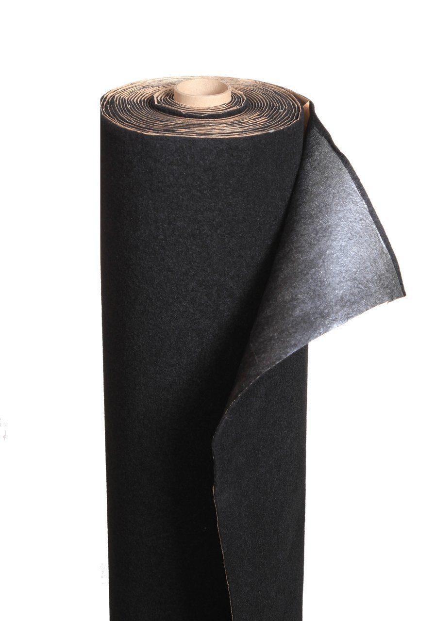 Декоративный самоклеящийся материал STP Карпет, (черный) (лист