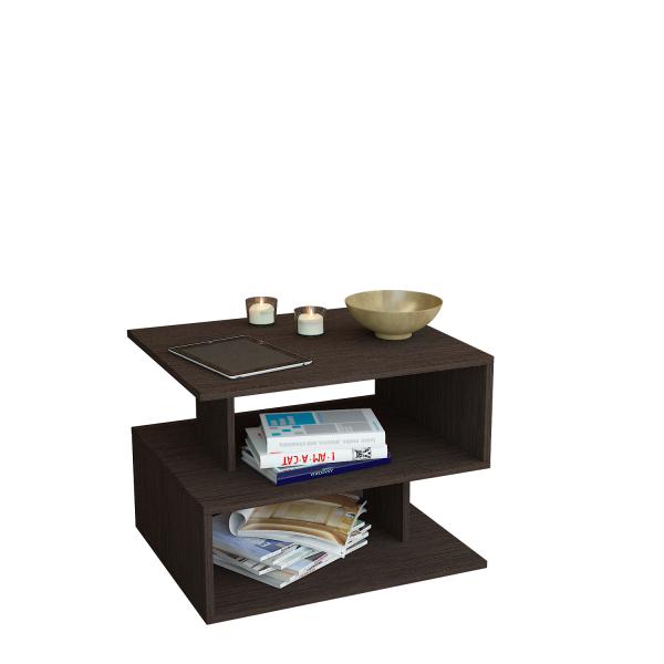Журнальный столик MFMaster Арто-22 МСТ-СЖА-22-ВМ-16 59х39х42,8 см, венге фото