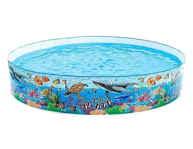 Купить Бассейн жесткий INTEX Deep Blue Sea, 244х46 см, Детские бассейны