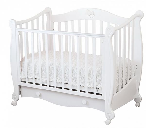 Кровать детская Можга Красная Звезда Валерия накладка №22 мишка на облаке, белый