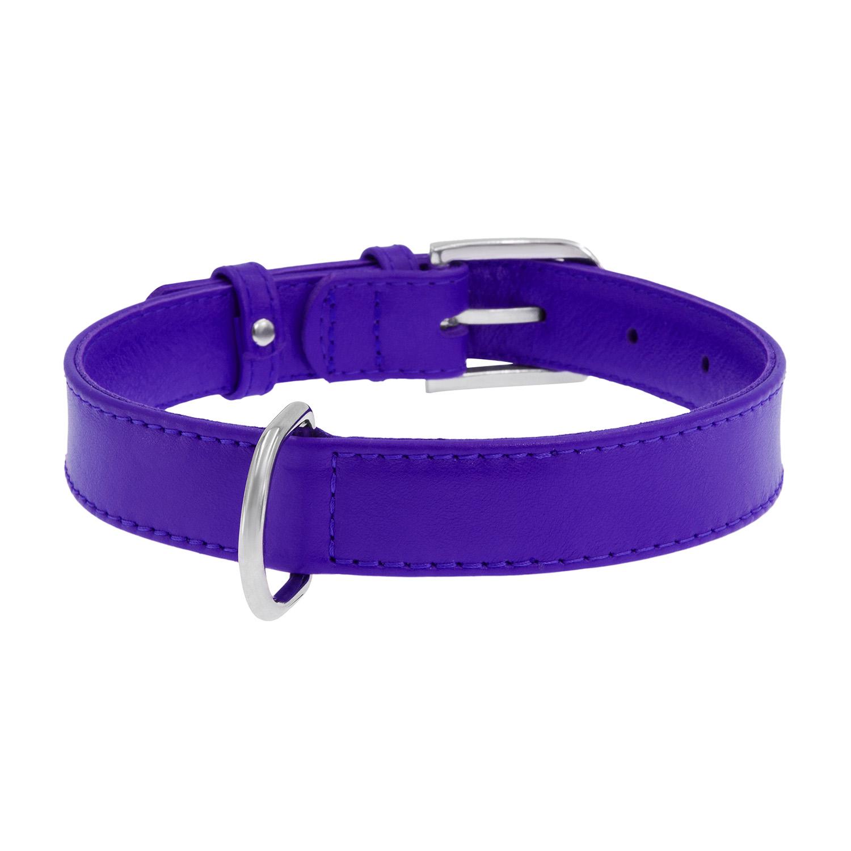 Ошейник для собак Collar WAUDOG Glamour без украшений, фиолетовый, 25мм х 38-49см