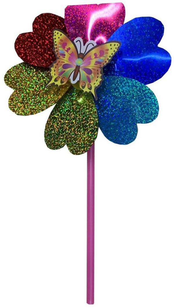 Вертушка Наша игрушка Насекомые на цветке голограмма,