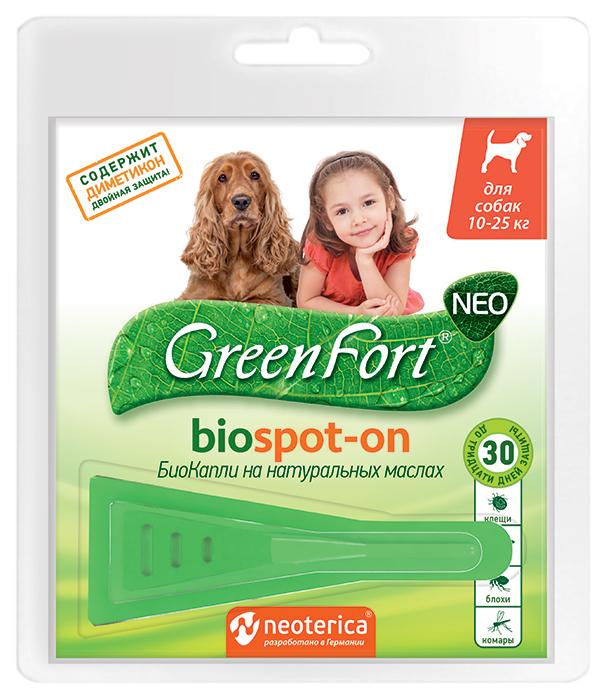 Капли для собак против паразитов GreenFort Neo,