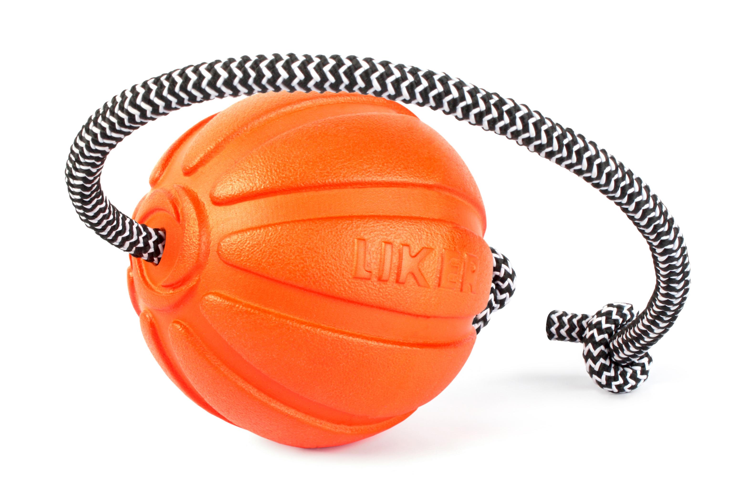 Мячик со шнуром для собак крупных пород