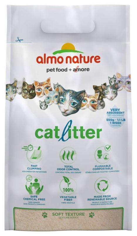 Наполнитель для кошачьих туалетов Almo Nature натуральный, комкующийся, 2,27кг