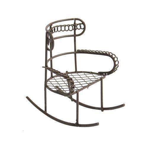 Мебель для куклы Астра металлическое кресло-качалка