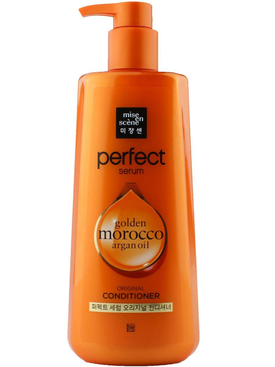 Купить Кондиционер для волос Mise en scene Argan Oil Conditioner 680 мл, Perfect serum Golden morocco argan oil conditioner, Mise-en-scène
