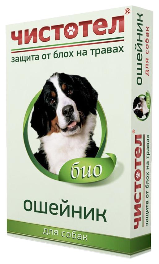 Ошейник для собак против блох и клещей Чистотел Био зеленый, 65 см
