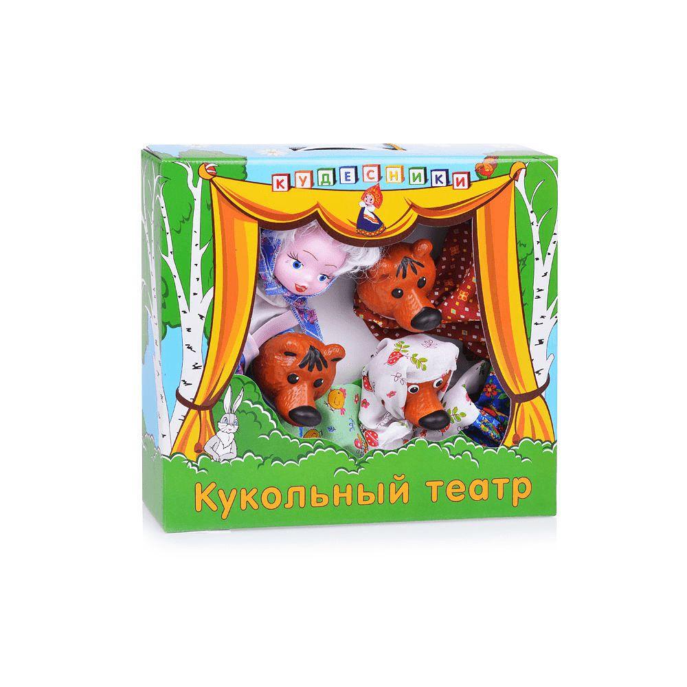 Кукольный театр Игрушки Три медведя в кор,3шт