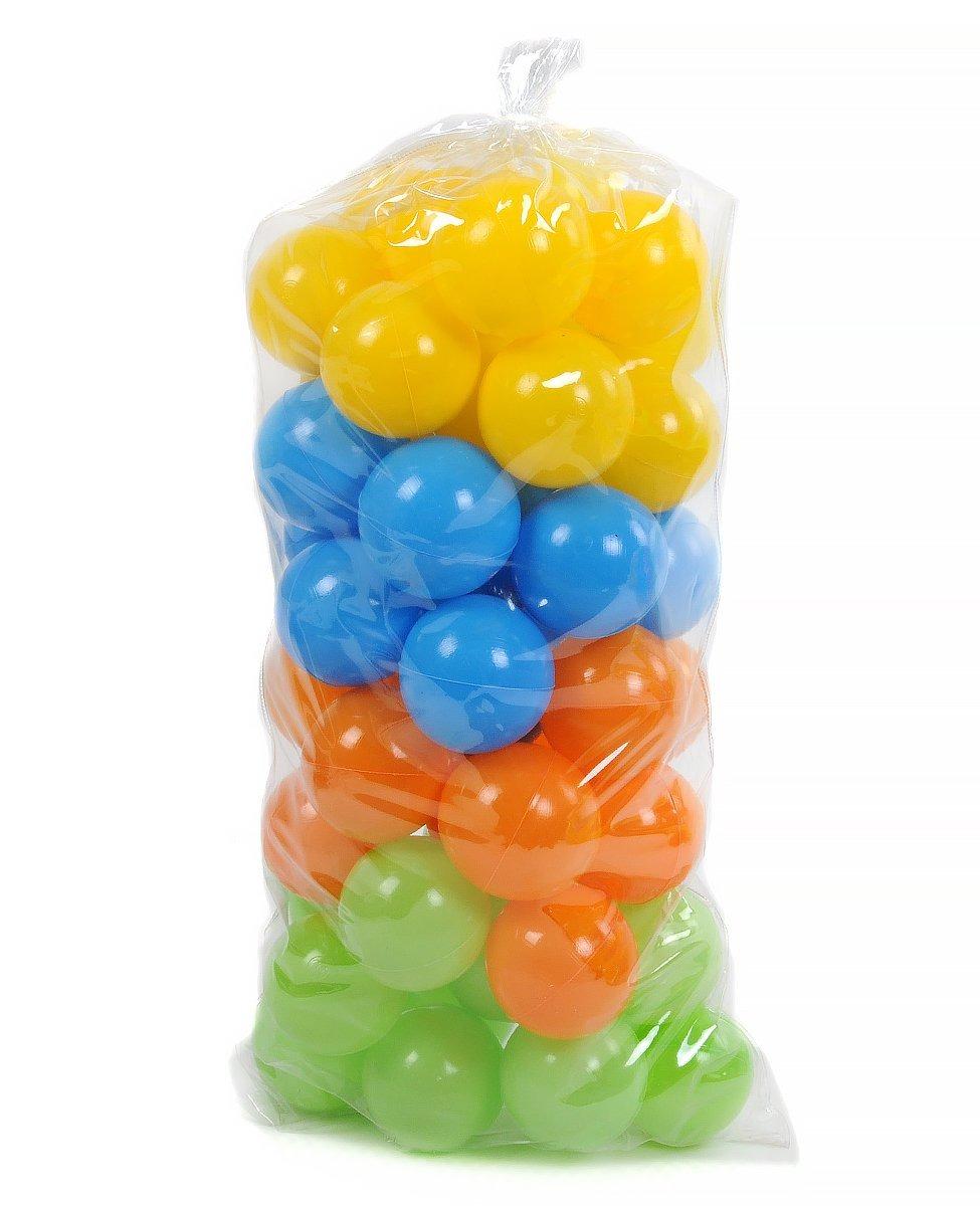 Мячики для сухого бассейна в сетке,