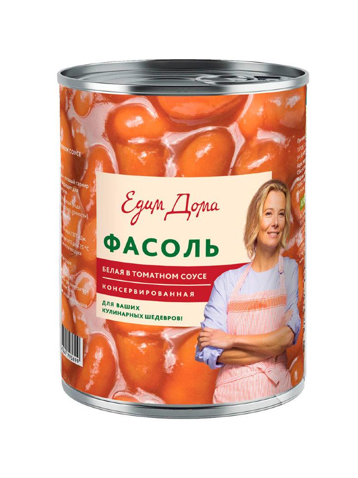Фасоль Едим дома белая в томатном соусе 400 г 6 шт