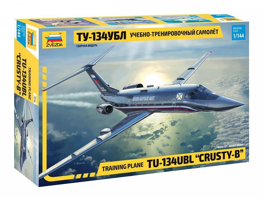 ТУ-134 УБЛ Учебно-тренировочный самолет Сборная модель 1/144 Звезда 7036, Сборная модель 1/144 Звезда ТУ-134 УБЛ Учебно-тренировочный самолет 7036, ZVEZDA, Модели для сборки  - купить со скидкой