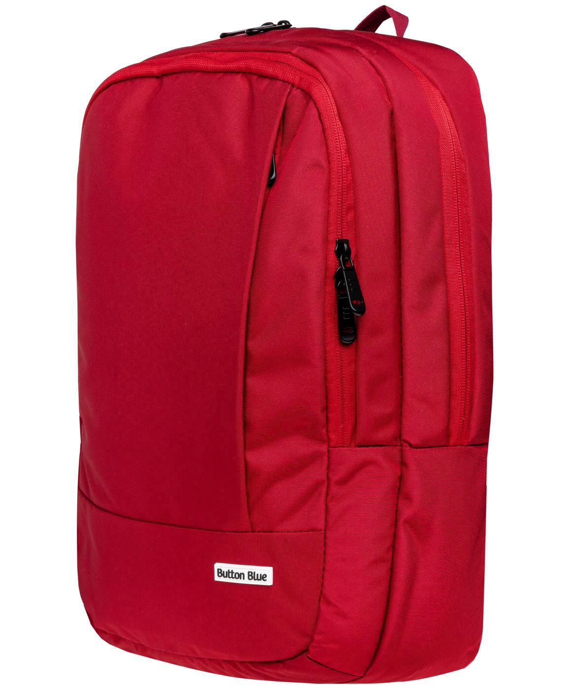Рюкзак для девочек Button Blue, цв. красный