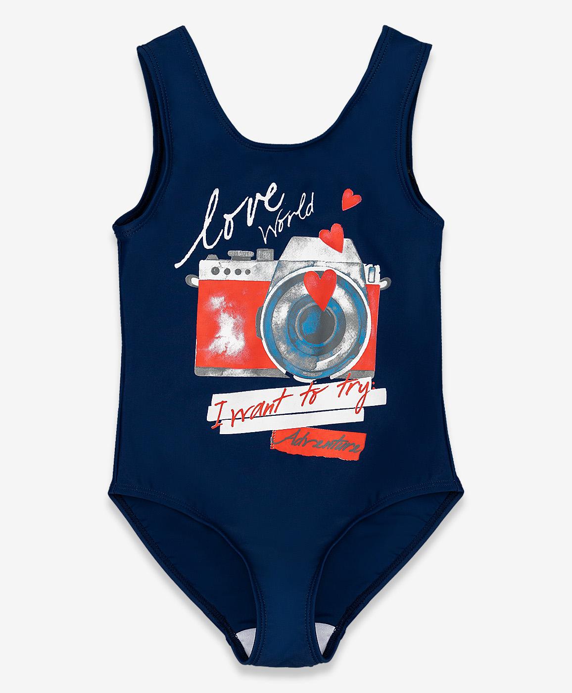 Купить 120BBGU80021000, Купальник для девочек Button Blue, цв. синий, р-р 104-110,