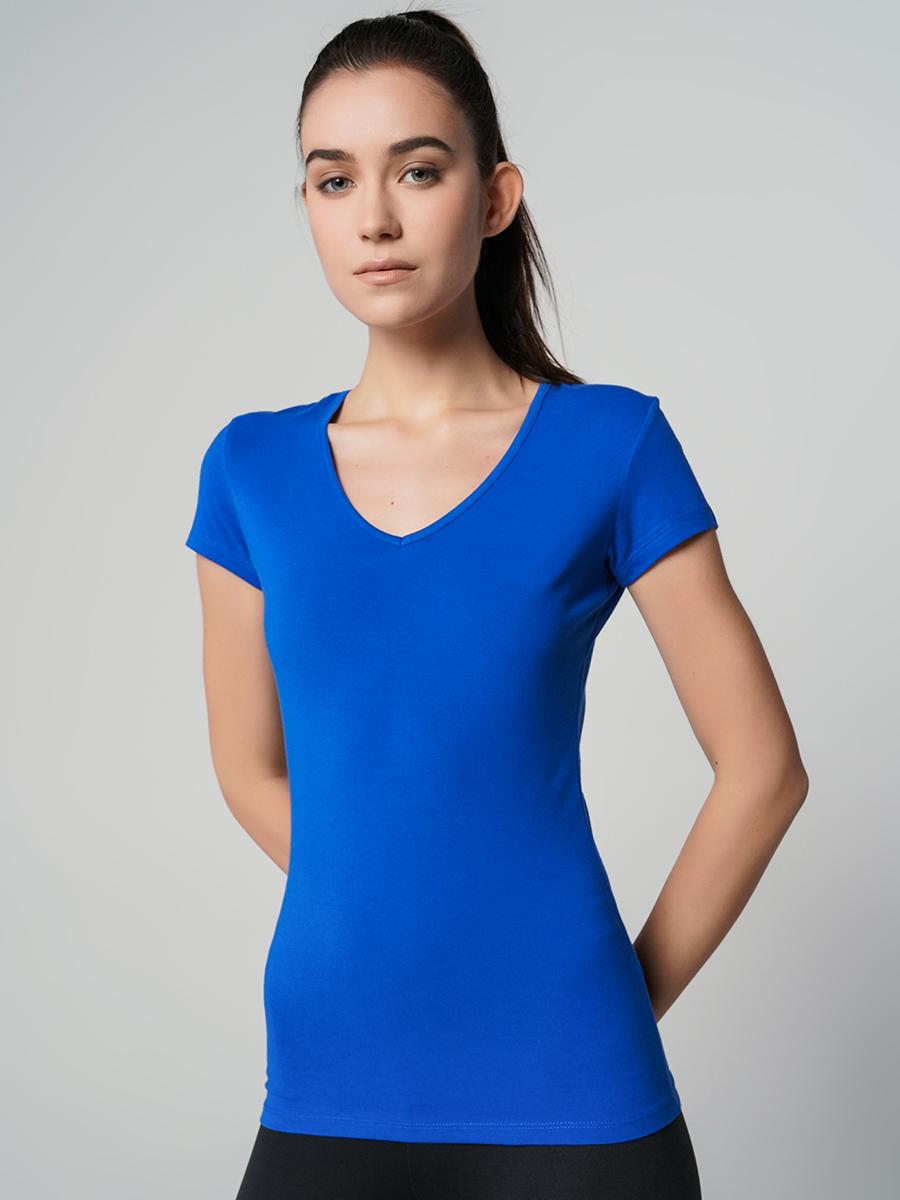 Футболка женская ТВОЕ 62732 синяя M фото