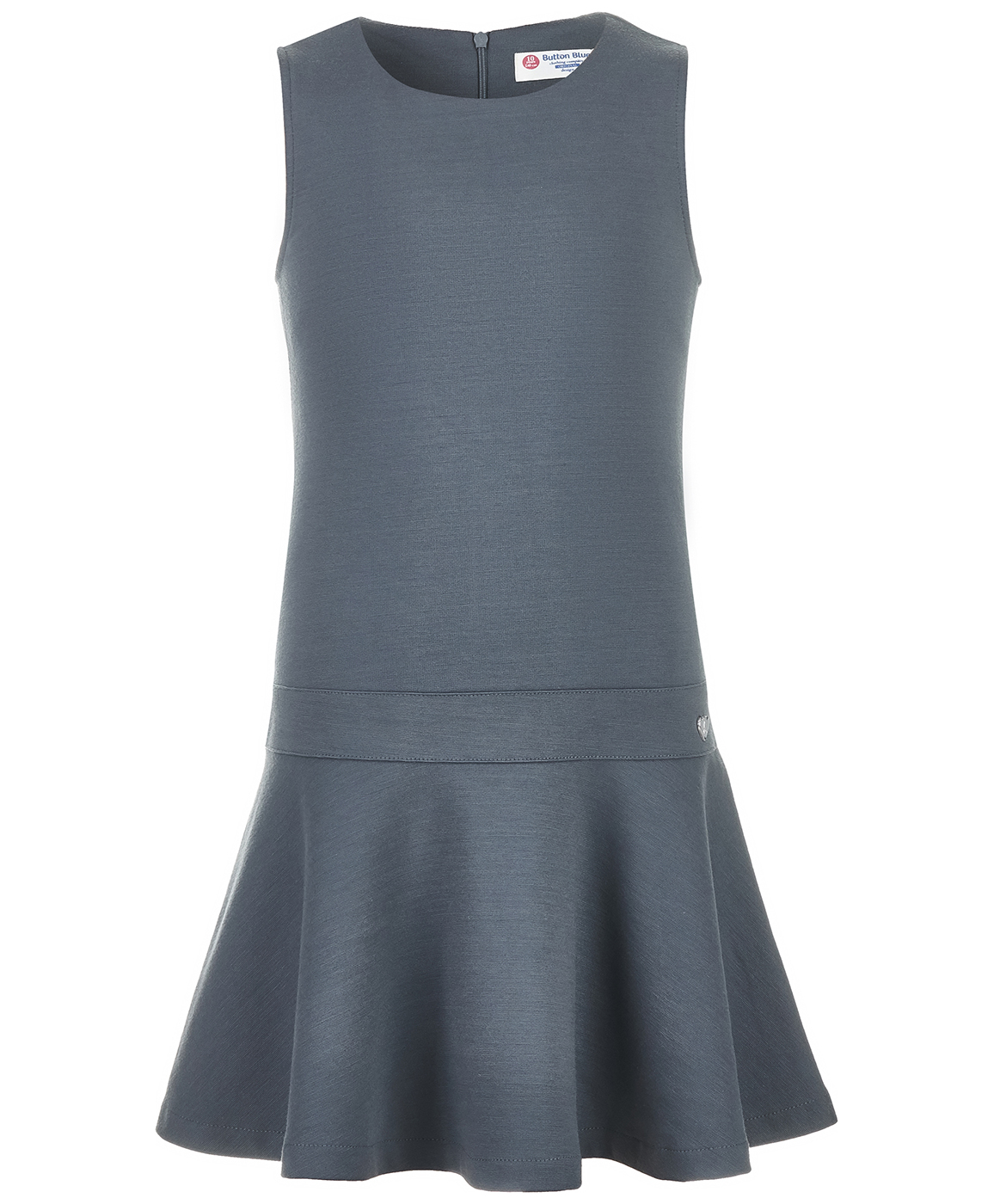Купить 218BBGS50020100, Сарафан для девочек Button Blue, цв. серый, р-р 164,