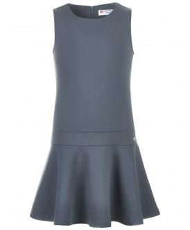 Купить 218BBGS50020100, Сарафан для девочек Button Blue, цв. серый, р-р 122, Сарафаны для девочек