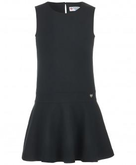 Купить 218BBGS50020800, Сарафан для девочек Button Blue, цв. черный, р-р 122, Сарафаны для девочек
