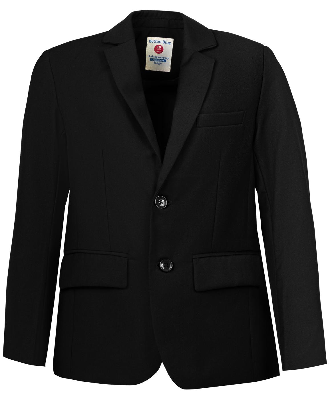 Пиджак для мальчиков Button Blue, цв. черный, р-р 164