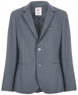 Купить 218BBBS48010100, Пиджак для мальчиков Button Blue, цв. серый, р-р 140, Пиджаки для мальчиков