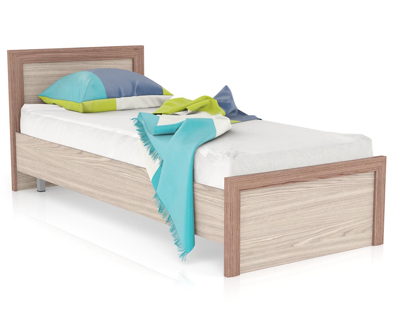 Односпальная кровать Мебельный Двор Аврора 800 ясень