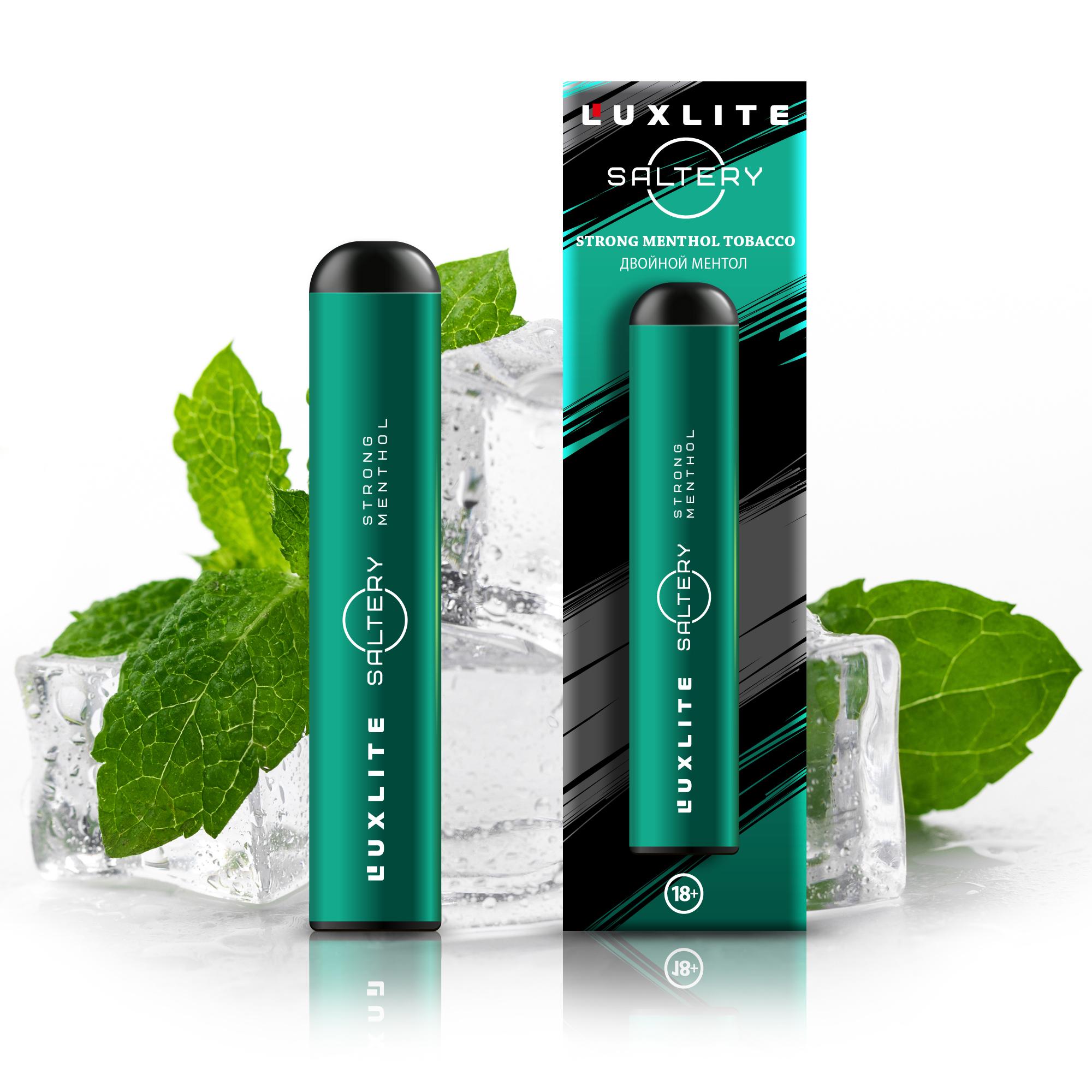 Сигарета Luxlite Saltery электронная со вкусом двойного ментола фото