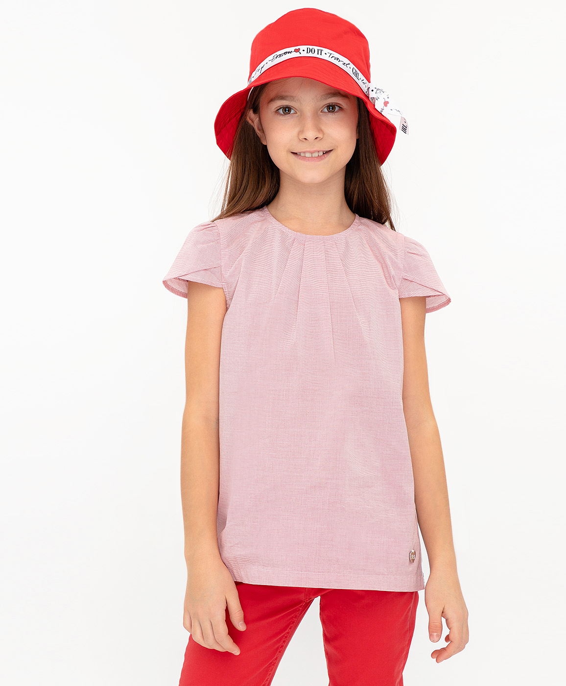 Купить 120BBGC22023505, Блузка для девочек Button Blue, цв. розовый, р-р 158,