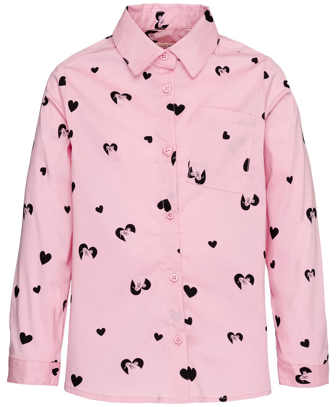 Рубашка для девочек Button Blue, цв. розовый,