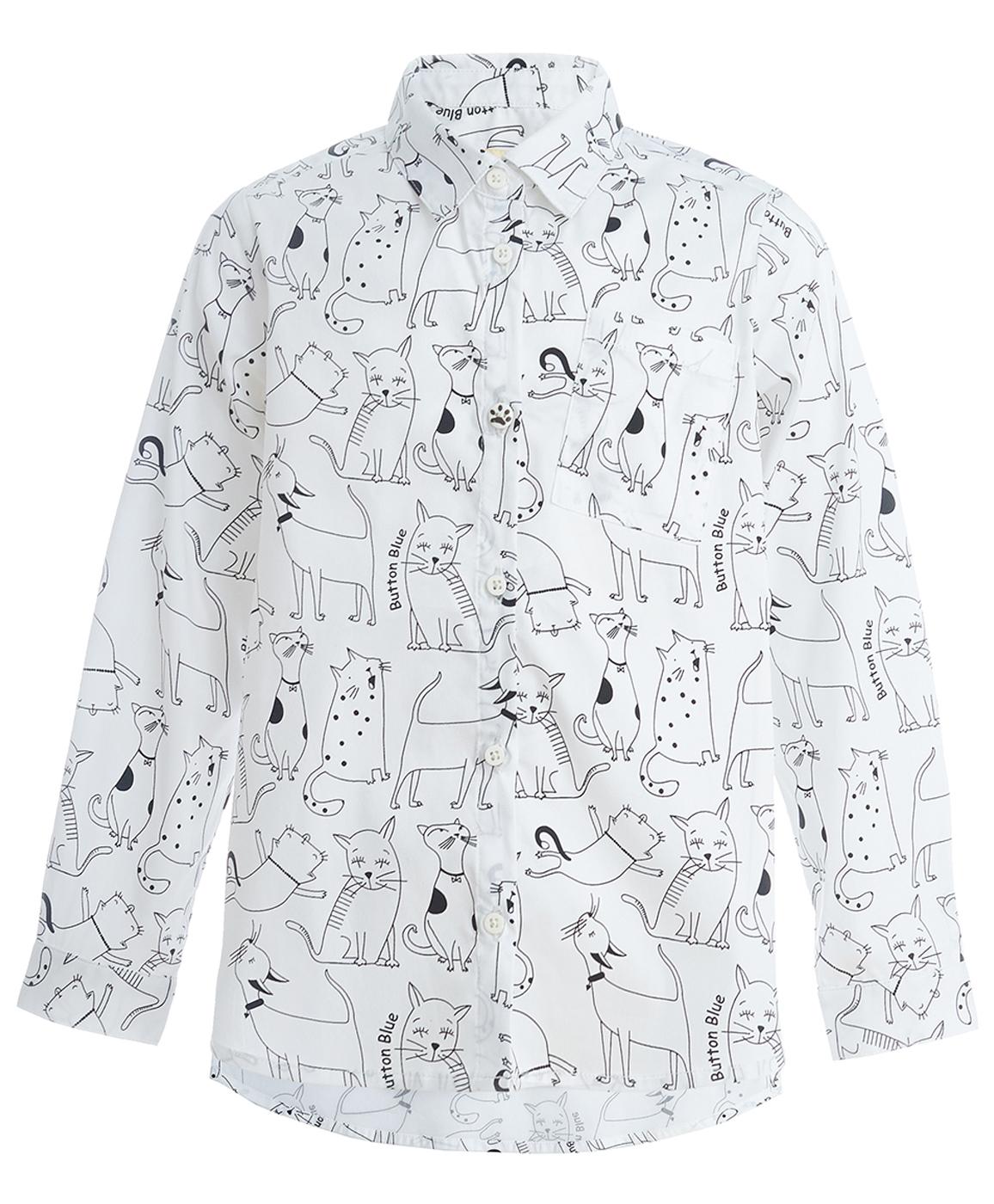 Рубашка для девочек Button Blue, цв. белый,