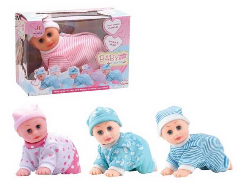 Кукла пупс ползающая, звуковые эффекты,