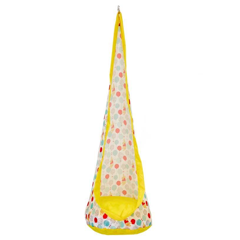 Купить Детское подвесное кресло Polini kids Disney baby Медвежонок Винни Чудесный день, желтый, Детские качели