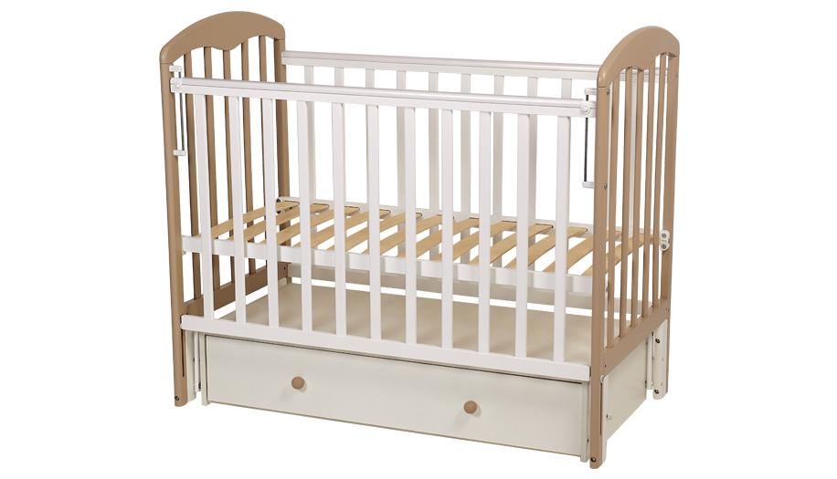 Купить Кроватка детская Polini kids Simple 328 белый/макиато,