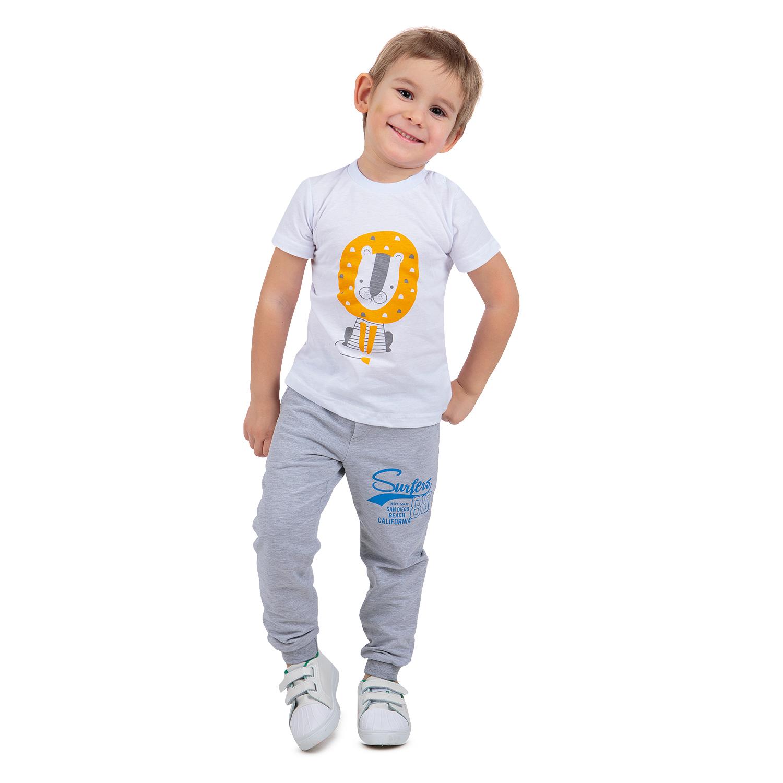 Купить ЛКЛ20215293фу01, Брюки Leader Kids серый р.110,