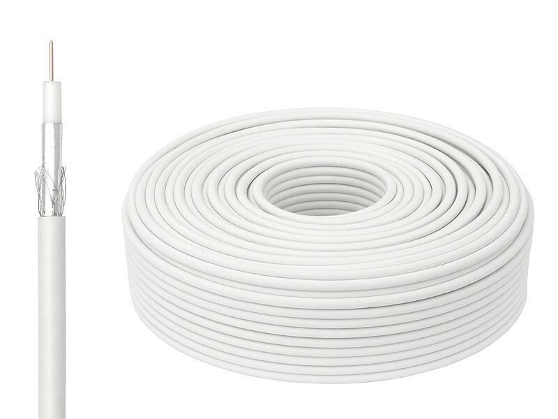 Кабель Lumax RG 6 50м White