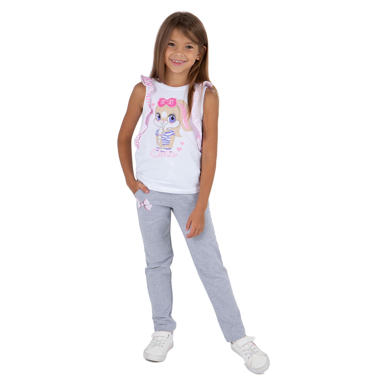 Купить Брюки Leader Kids Зайка Лола серый р.110,