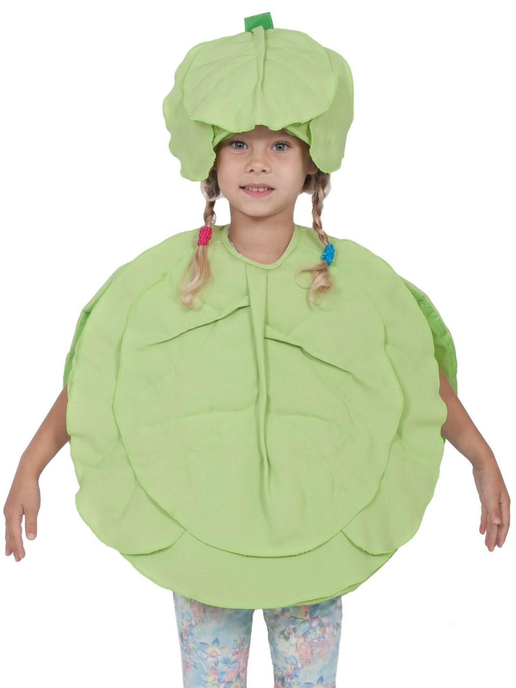 Карнавальный костюм Карнавалофф Овощ, цв. зеленый р.104