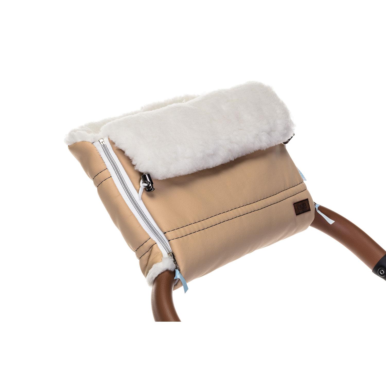 Купить Муфта меховая для коляски Nuovita Alpino Lux Bianco бежевая,