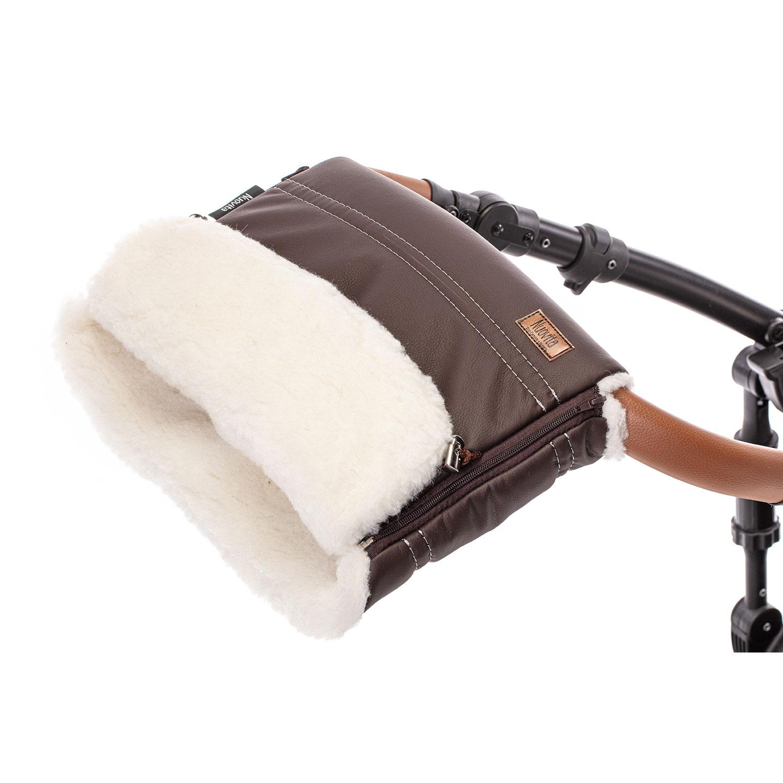 Купить Муфта меховая для коляски Nuovita Alpino Lux Bianco шоколад,