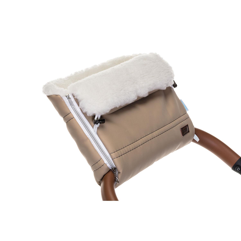 Купить Муфта меховая для коляски Nuovita Alpino Lux Bianco капучино,