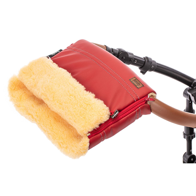 Купить Муфта меховая для коляски Nuovita Alpino Lux Pesco красная,