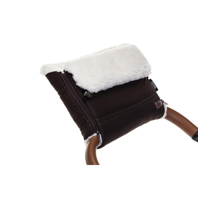 Купить Муфта меховая для коляски Nuovita Alpino Bianco шоколад,