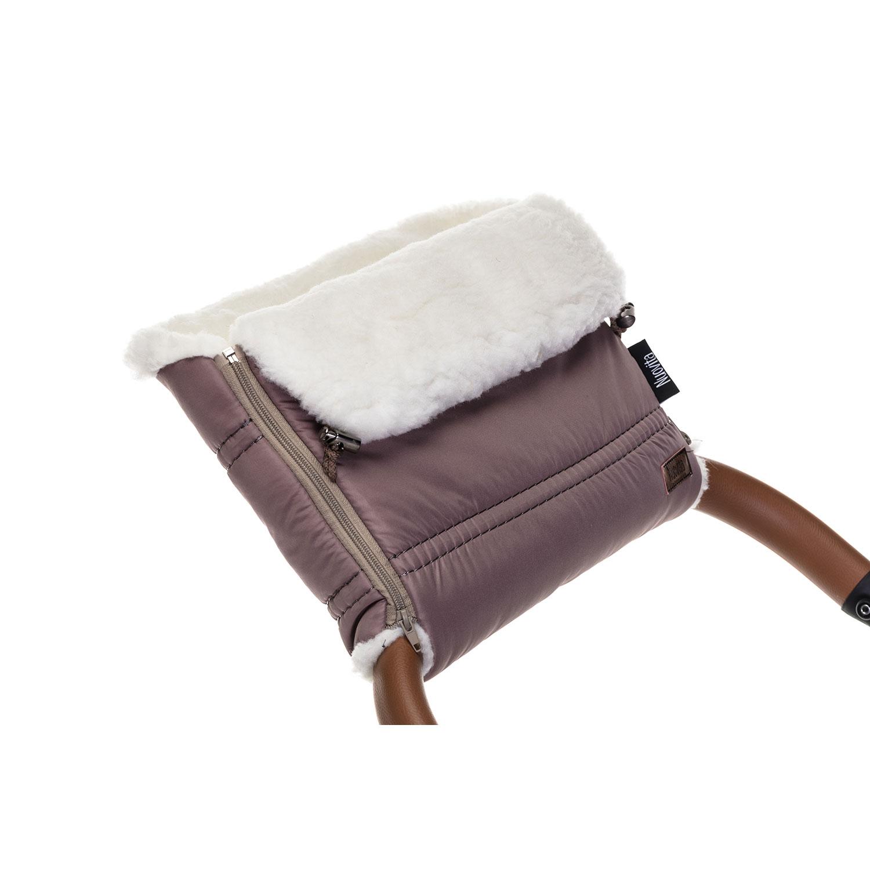 Муфта меховая для коляски Nuovita Alpino Bianco капучино,  - купить со скидкой
