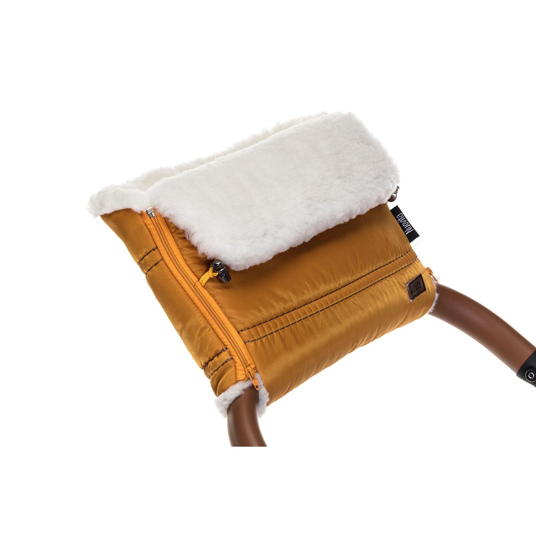 Купить Муфта меховая для коляски Nuovita Alpino Bianco медовая,
